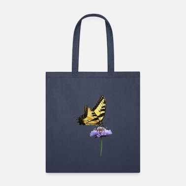Flower Tiger Swallowtail on Aster - Tote Bag