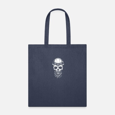 Safety Helmet Skull with safety helmet, construction worker - Tote Bag