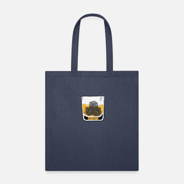 Whiskey Whiskey - whiskey glass with whiskey stones - Tote Bag