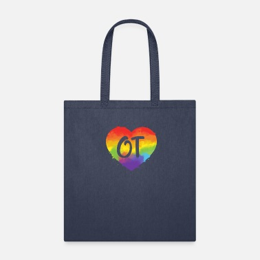 Heart OT Month Cute Colorful Watercolor Heart - Tote Bag