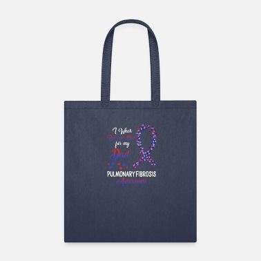I Heart Pulmonary Fibrosis I Wear Red And Blue For My Dad - Tote Bag