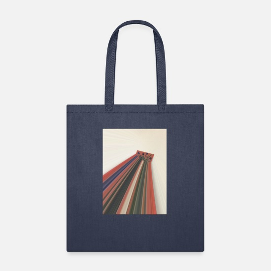 Flowers Bags & Backpacks - Flowers zooming toward the sky. - Tote Bag navy