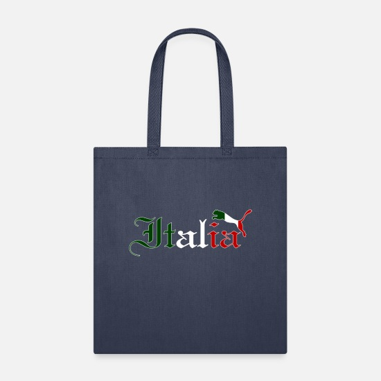 Italian Bags & Backpacks - Italy Cat Flag - Tote Bag navy