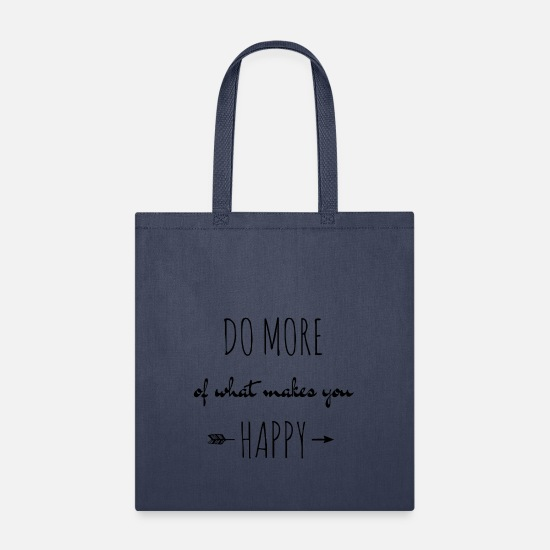 Anns Bags & Backpacks - do more of what makes you happy - Tote Bag navy