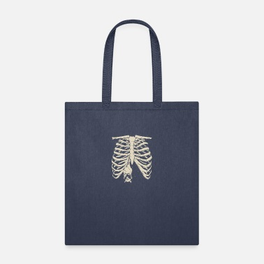 Rib cage bat Halloween shirt - Tote Bag