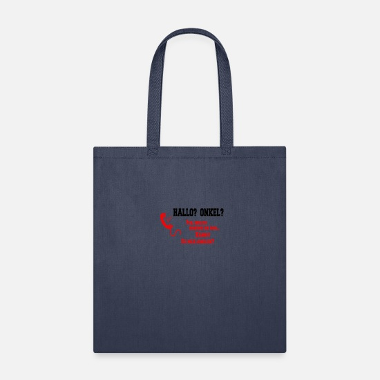 Christmas Bags & Backpacks - Hi Uncle? Can you pick me up? - Tote Bag navy