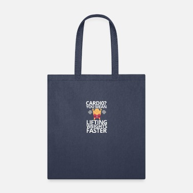 weights and cardio - Tote Bag