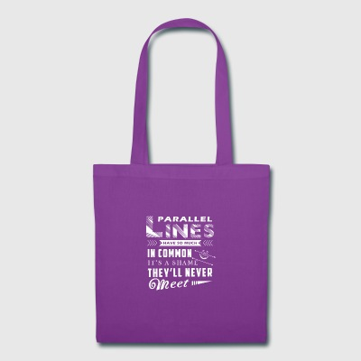 Parallel Lines Math Shirt - Tote Bag