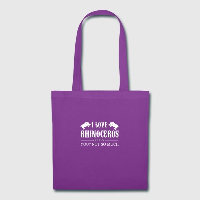 I Love Rhinoceros Tee Shirt - Tote Bag