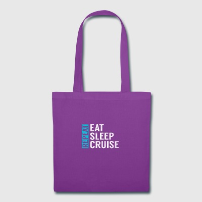 Eat Sleep Cruise Repeat Funny Vacation Crusing - Tote Bag