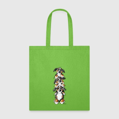 Three Bernese Mountain Dogs - Tote Bag