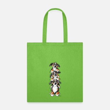 Dog Three Bernese Mountain Dogs - Tote Bag