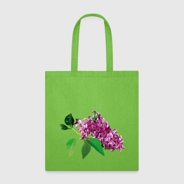 Lilac Small Cluster of Pink Lilacs - Tote Bag