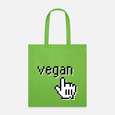 VEGAN 1bit PIXEL Geek - Tote Bag