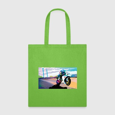 MOTORCYCLE IN MOTION - Tote Bag