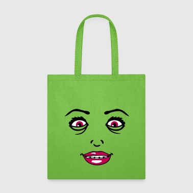 crazy crazy crazy braces girl girl female face hot - Tote Bag