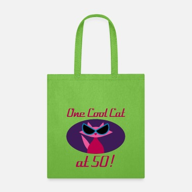 Birthday Cool Cat 50th Birthday - Tote Bag