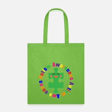 Autism Puzzle Piece Awareness Support - Tote Bag