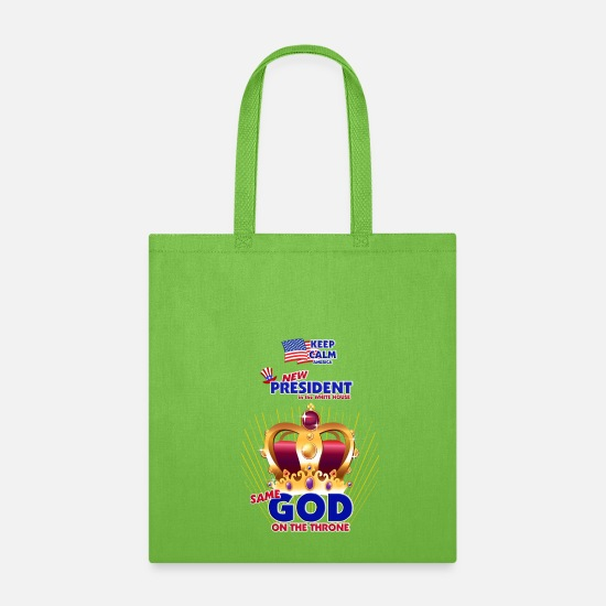 Kingdom Bags & Backpacks - New President in White House, Same GOD on Throne - Tote Bag lime green