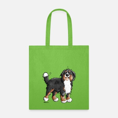 Dog Happy Bernese Mountain Dog - Tote Bag