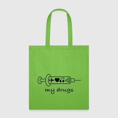 My Drugs Travel / addicted, bugs, provokative, - Tote Bag