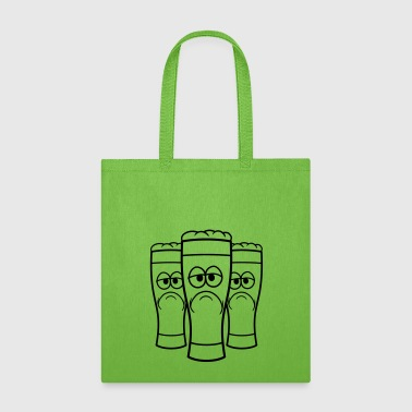 3 friends team crew beer alcohol booze drinking dr - Tote Bag