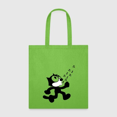 Funny singing cat T shirt Design for Animal Lovers - Tote Bag
