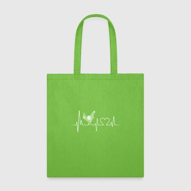 chicken heartbeat shirt - Tote Bag
