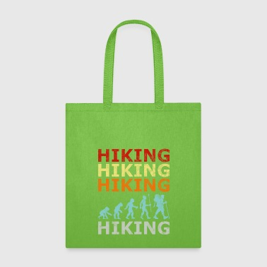Retro Vintage Style Evolution Hiking Hike Wander - Tote Bag