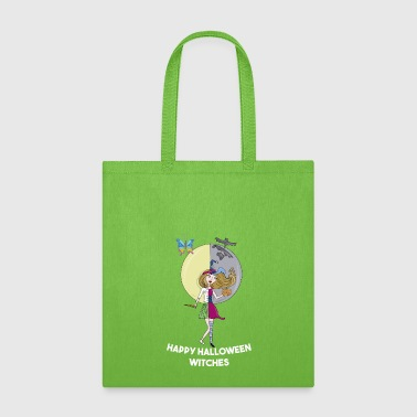 HAPPY HALLOWEEN FUNNY TEACHER WITCH PRTTY GIFT - Tote Bag