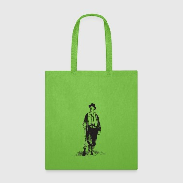 Historical Billy the Kid Gunslinger William H Bonnie Vintage Historical West Black - Tote Bag