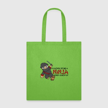 Aikido Be a Ninja When I Grow Up Ninja Cute Kids Youth - Tote Bag
