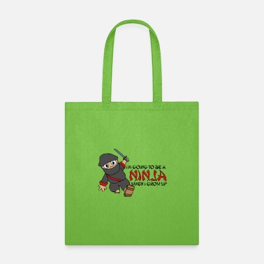 Muay Thai Be a Ninja When I Grow Up Ninja Cute Kids Youth - Tote Bag