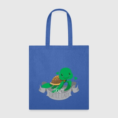 crazy turtle lady banner - Tote Bag