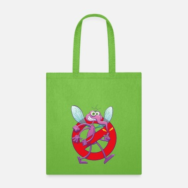 Mischievous Forbidden mischievous mosquito sign - Tote Bag