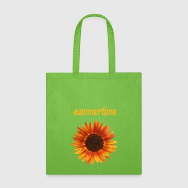 summertime - beautiful sunflower blossom - Tote Bag