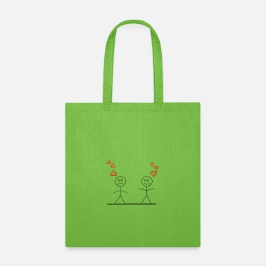 stick figure love or not - Tote Bag