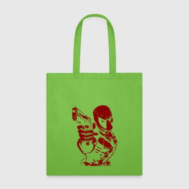 deadpool shoot - Tote Bag