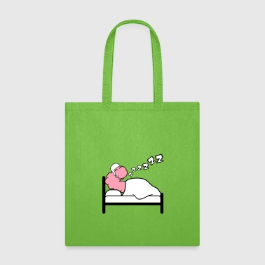 Caterpillar zzz snore bed tired sleep sleepyhead night evening - Tote Bag