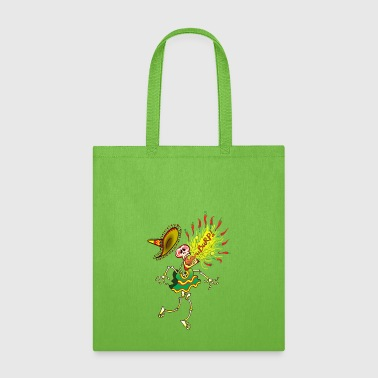 Mexican Skeleton Burping Hot Chili Peppers - Tote Bag