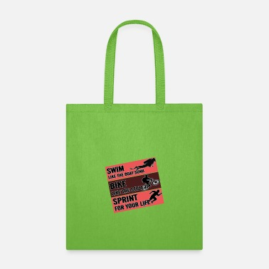 Sprinting Swim Bike Sprint - Tote Bag