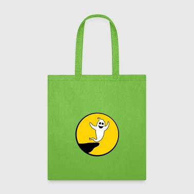 moon cliff night sun circle round ghost ghost laug - Tote Bag