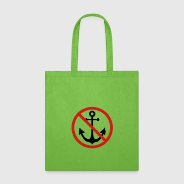 forbidden sign shield caution anchor boat ship flo - Tote Bag