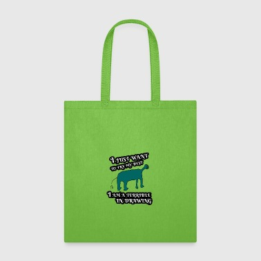 Terrible Terrible in Drawing - Tote Bag