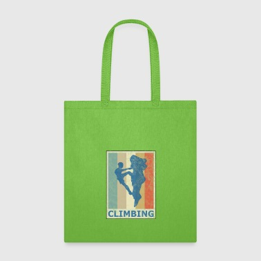 Retro Vintage Style Rock Climbing Climber Mountain - Tote Bag