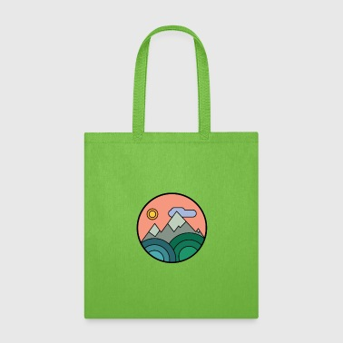 Symbol Mountains Colours - Tote Bag