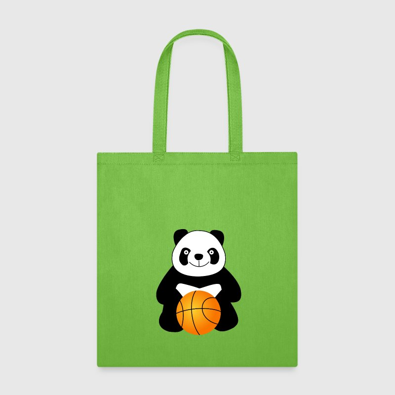Panda with a basketball ball - Tote Bag