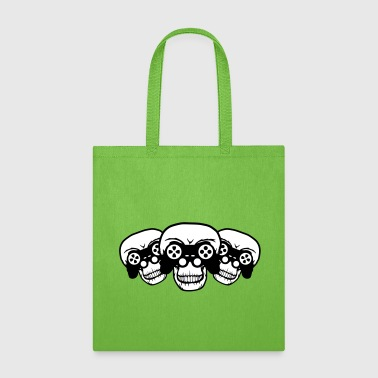 lanparty 3 friends team crew gamer gamble playing - Tote Bag