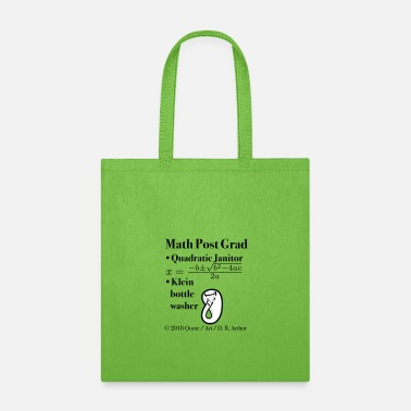 Quadrat ► Math Post Grad Quadratic Equation & Klein Bottle - Tote Bag
