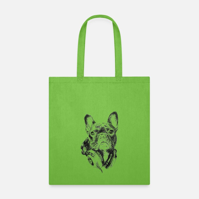 Cool Bags & backpacks - AD Bulldog The Melomaniac - Tote Bag lime green